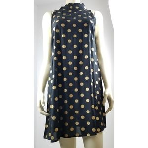 Cassee's Black with gold Polkadots Dress, PM NWT